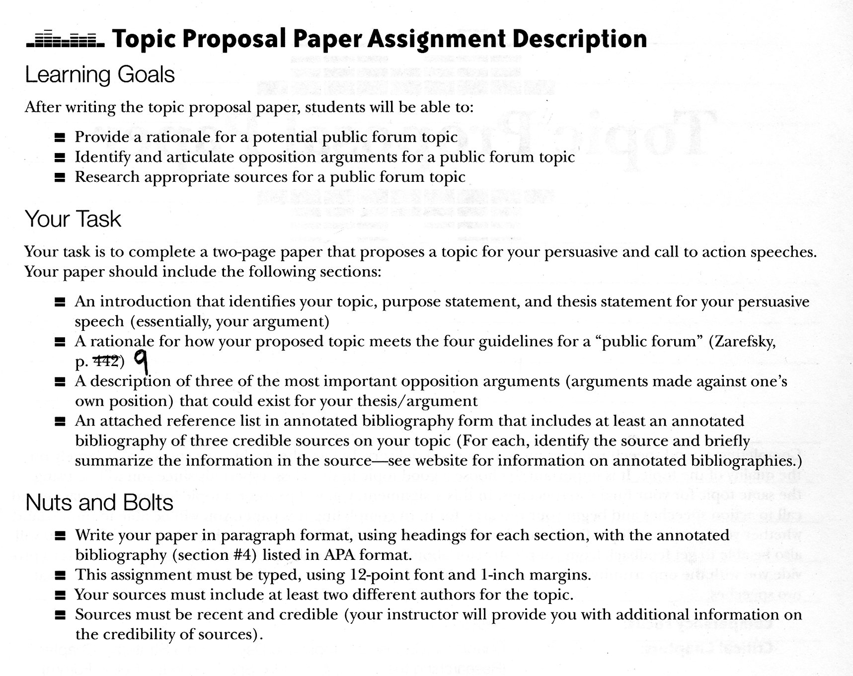Proposal essay topic